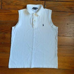 Ralph Lauren Sport White Sleeveless Top